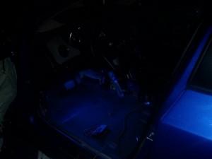 Подсветка салона с водительской стороны
