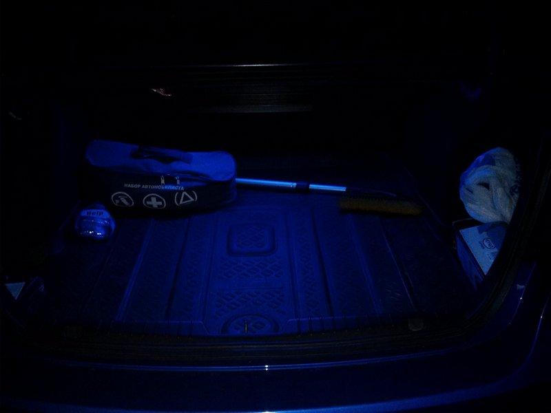 Подсветка в багажном отделении