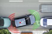 Парковочный радар с задними и передними датчиками парковки.