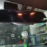 Тойота рав4 установили зеркало регистратор с камерой заднего хода